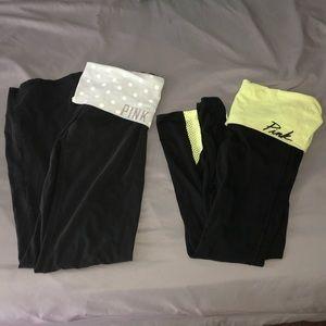 PINK Victoria's Secret Yoga Bootcut/Mesh Pants
